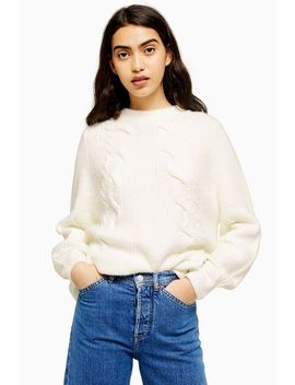 Super Soft Diagonal Cable Jumper by Topshop