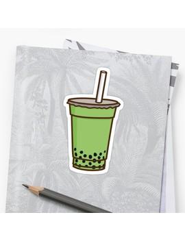 Matcha Bubble Tea Sticker by Heather Marshall