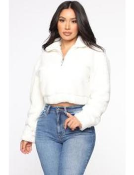 Heart So Soft Sherpa Top   Ivory by Fashion Nova
