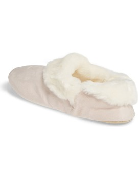 Cosy Boot Slipper With Faux Fur Trim by The White Company