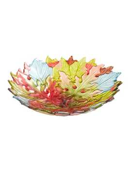 Glass Maple Leaves Serve Bowl by Pier1 Imports