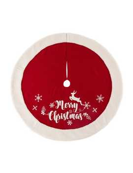Merry Christmas Snowflakes Tree Skirt by Pier1 Imports