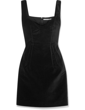Judita Cotton Velvet Mini Dress by Emilia Wickstead