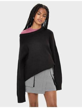 Checked Skirt With Belt Null   Bershka United States by Bershka