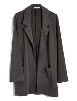 Glen Plaid Oversize Knit Blazer by Madewell