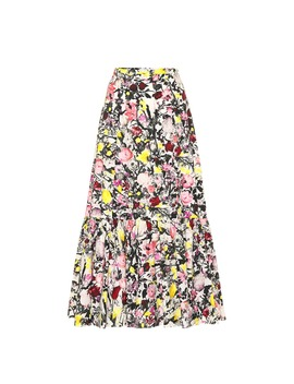 Claudena Floral Cotton Skirt by Erdem