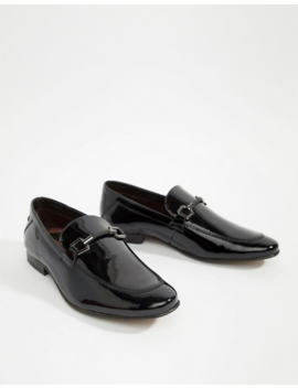 Base London Soprano Bar Loafers In Patent Black by Base London