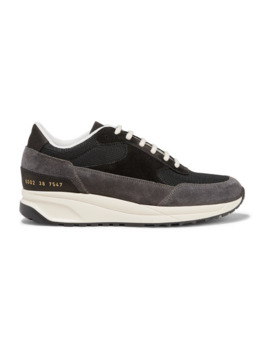 Track Classic Suede And Mesh Sneakers by Common Projects