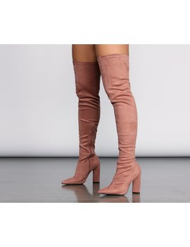 Thigh High Point Toe Boot by Windsor