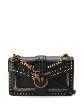 Love Studded Shoulder Bag by Pinko