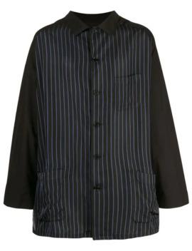 Striped Shirt Jacket by Yohji Yamamoto
