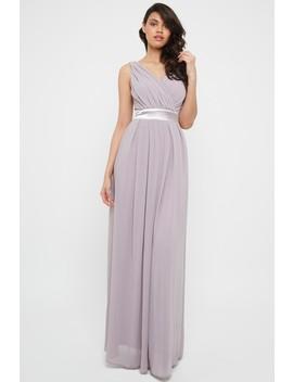 Tfnc Kily Grey Lavender Fog Maxi Dress by Tfnc London