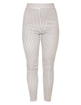 White Check Print Skinny Trouser by Prettylittlething