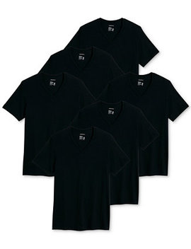Men's 6 Pk. Classic Cotton V Neck T Shirts by General