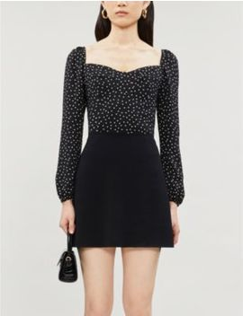 Reign Polka Dot Print Crepe Top by Reformation