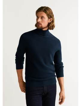 Structured Turtleneck Sweater by Mango