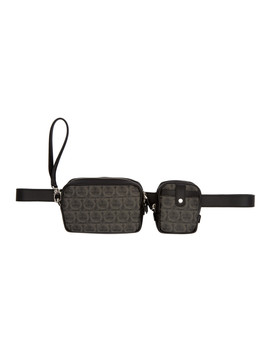Black Multi Pouch Travel Bag by Salvatore Ferragamo