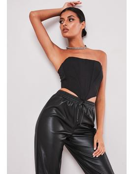 Sofia Richie X Missguided Black Corset Bandeau Top by Missguided