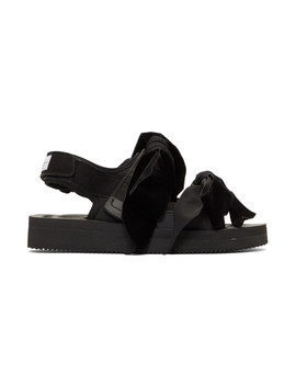 Black Suicoke Edition April Sandals by Cecilie Bahnsen