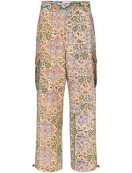 Iranian Print Wide Leg Trousers by Paria Farzaneh