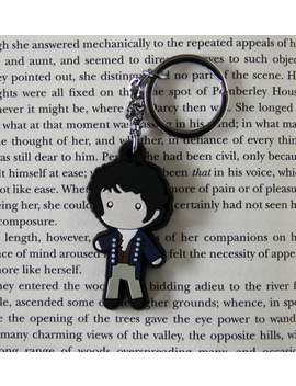 Mr. Darcy Figure Keychain Charm Necklace Jane Austen Pride & Prejudice Book Gift by Etsy