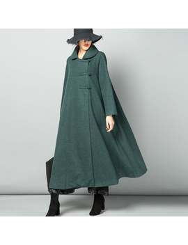 Long Length Wool Poncho Coat,Warm Cozy Jacket Outwear Wool Cape Long Cloak Plus Size Winter Coat Long Sleeve Coat Dress Plus Size Clothing by Etsy