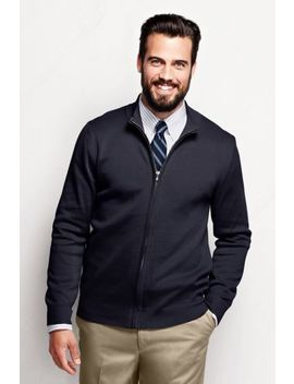 Men's Regular Performance Zip Cardigan Sweater by Lands' End