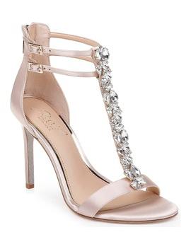 Daughtry Embellished T Strap Sandal by Jewel Badgley Mischka