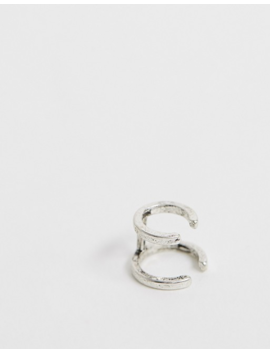 Asos Design Double Hoop Earrings In Silver Tone by Asos Design