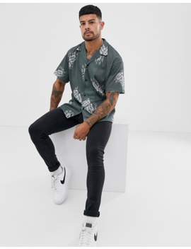 Jack & Jones Premium Printed Short Sleeve Shirt In Green by Jack & Jones