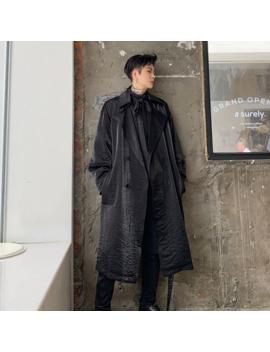 Men Vintage Double Breasted Loose Casual Long Windbreaker Jacket Overcoat Male Women Streetwear Punk Hip Hop Trench Coat by Ali Express.Com