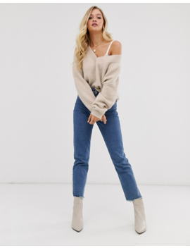 Micha Lounge Luxe Relaxed Sweater In Wool Blend by Micha Lounge