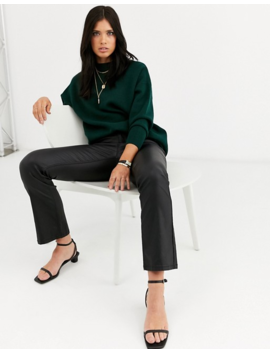Mango Crew Neck Sweater In Green by Mango