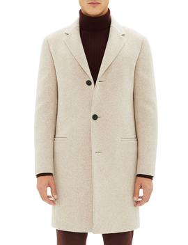 Steinway Regular Fit Felted Wool & Cashmere Coat by Theory