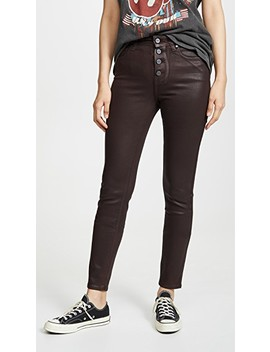 Hoxton Slim Jeans With Exposed Buttons by Paige