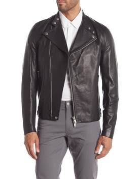 Banded Leather Jacket by Theory