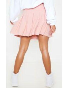 Dusty Pink Pleated Side Split Tennis Skirt by Prettylittlething