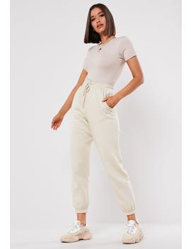 Beige Oversized 90s Joggers by Missguided