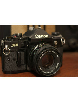 Canon A 1 35mm Slr Film Camera W/ 50mm F/1.8 Fd Lens #833 by Canon