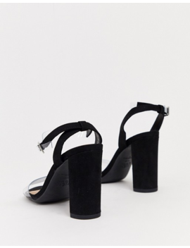 New Look Clear Strap Heeled Sandals In Black by New Look