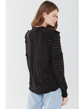 Just Female Polka Dot Ruffle Blouse by Just Female