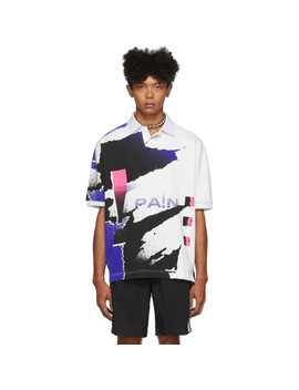 White & Blue Compact Jersey Polo by Alexander Wang