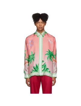 Ssense Exclusive Pink Silk Tennis Club Shirt by Casablanca