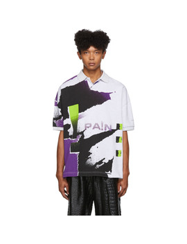 Grey & Purple Compact Jersey Polo by Alexander Wang