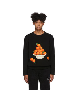 Black Pyramid Of Oranges Sweater by Casablanca