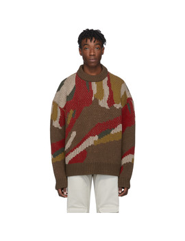 Brown & Multicolor Bulky Sweater by Han Kjobenhavn
