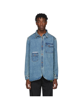 Blue Denim Heavy Army Shirt by Han Kjobenhavn
