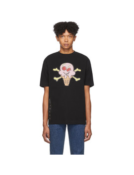 Black Icecream Edition Skull T Shirt by Palm Angels
