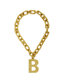 Gold B Chain Necklace by Balenciaga