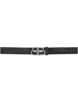 Black Croc Bb Belt by Balenciaga